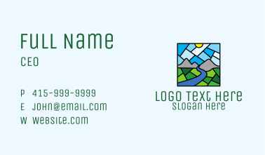 Rural Scene Mosaic  Business Card