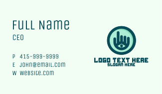 Hand Eye Point Click Business Card
