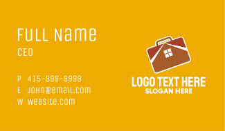 Brown Home Briefcase Business Card