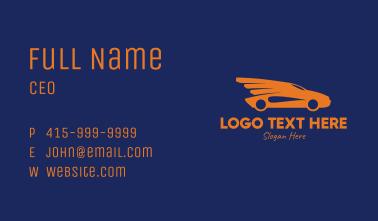Orange Car Wings  Business Card