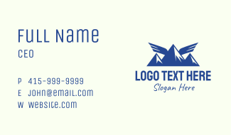 Wing Mountain Camping Business Card