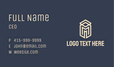 White Letter M Real Estate Business Card