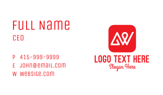 Red App A & W Business Card