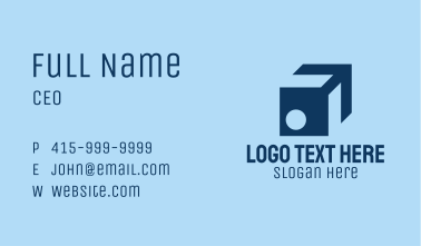 Isometric Package Logistics  Business Card