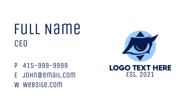 Contact Lens Eyes  Business Card