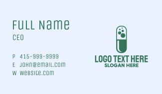 Green Bubble Pill Business Card