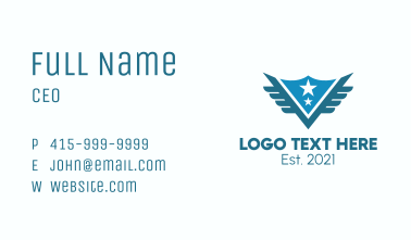 Blue Scout Badge Business Card