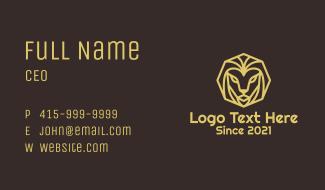 Minimal Lion Head Business Card