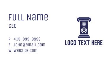 Blue Stereo Pillar  Business Card