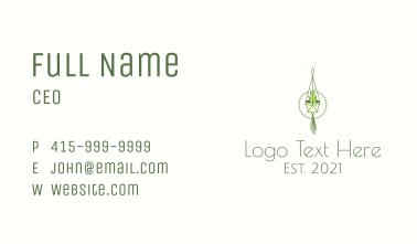Hanging Plant Craft  Business Card