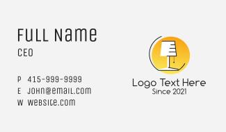Desk Lamp Appliance  Business Card