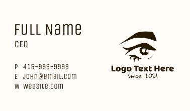 Abstract Eyebrow Eye Business Card