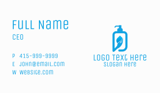 Hand Soap Sanitizer Business Card