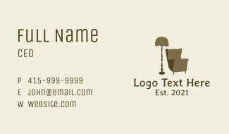 Home Furniture Store Business Card