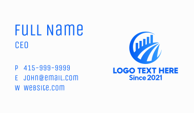 Blue Accounting Chart  Business Card