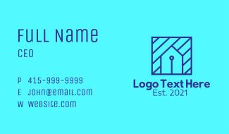 Blue Tech House Business Card