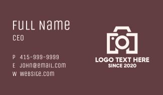 Digital Camera Letter M Business Card