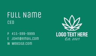 White Wing Marijuana  Business Card