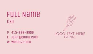 Ballerina Dancer Line Art Business Card