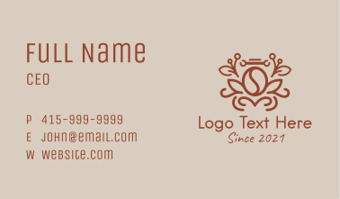 Brown Coffee Plant  Business Card