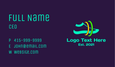 Space Running Shoes Business Card