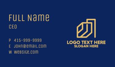 Minimalist Construction Company Business Card