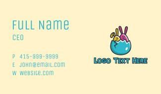 Easter Egg Rabbits  Business Card