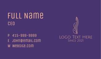 Classic Cello Outline Business Card