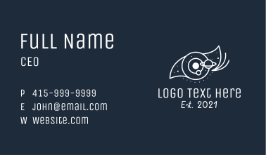 White Galaxy Eyes Business Card