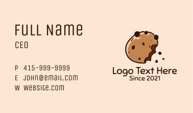 Cookie Pastry Shop Business Card