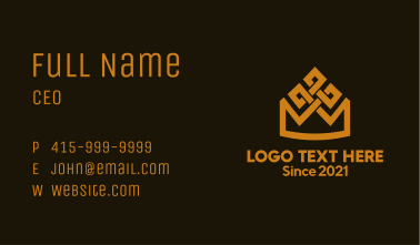 Gold Crown House Business Card