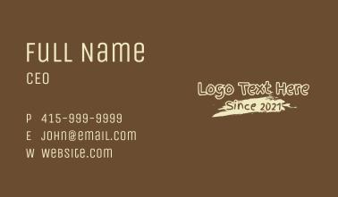 Brush Paint Coffee Wordmark Business Card