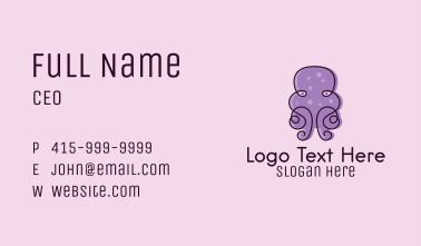 Purple Scribble Octopus Business Card