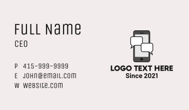 Mobile Chat Messaging Business Card