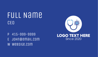 Medical Virus Check Up Business Card