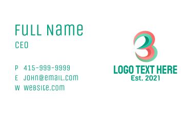 Multimedia Letter B  Business Card