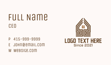 Brown House Lines Business Card