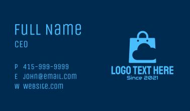 Blue Data Cloud Shopping Business Card