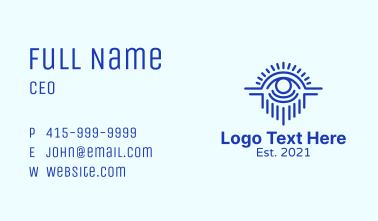 Blue Mystical Eye  Business Card