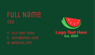 Fresh Watermelon Slice  Business Card