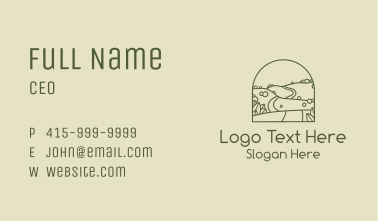 Hill Road Outline Business Card