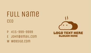 Fresh Bread Mascot Business Card