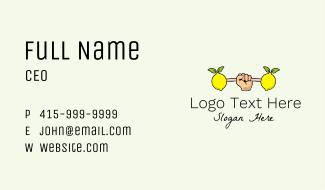 Fitness Lemon Dumbbell Business Card
