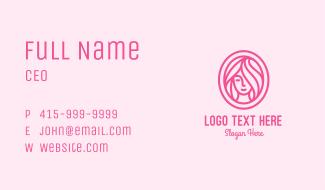 Pink Beauty Salon  Business Card