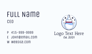 Moon Baby Bottle Business Card