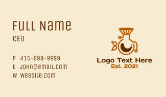 Coffee Pot Filter Business Card