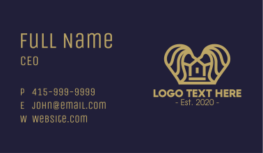 Premium Lion Realty House Business Card