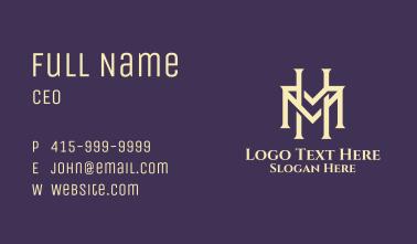 Cream Classic Letter H & M Business Card