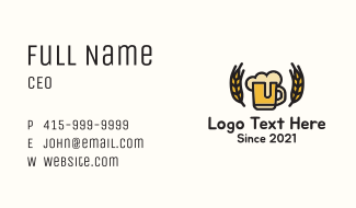 Craft Beer Bar Business Card