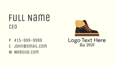 Leather Winter Boots Business Card
